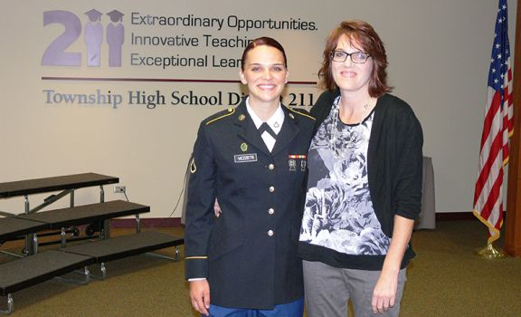 Schaumburg High School Alumna Honored for Board of Education Military Recognition