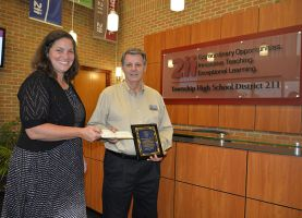 Local Resident Gifts $500 Honorarium to Schaumburg High School Applied Technology Department