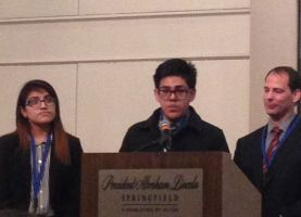 Two Palatine High School Students Introduce Manufacturing Program in Springfield