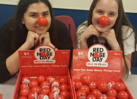 Schaumburg, Hoffman Estates High Schools Participate in Red Nose Day