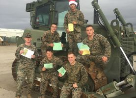 PHS Students Send Holiday Cards to Alumnus Serving in US Marine Corps.