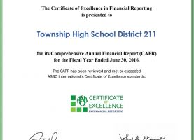 District 211 Earns 11th Consecutive Certificate of Excellence in Financial Reporting Award