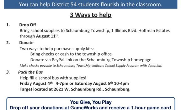 School Supplies Needed for 'Pack the Bus' Donation Drive