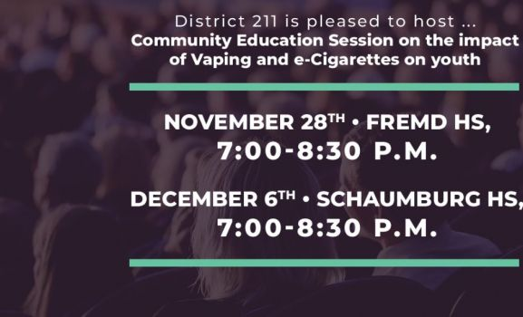 D211 Post: District to Hold Community Education Session on Vaping and e-Cigarette Impact
