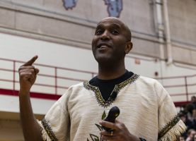 D211 Post: Speaker Mawi Asgedom Tells PHS Students to Push Their 'Turbo Button'