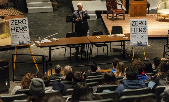 D211 Post: Medal of Honor Recipient Speaks to SHS Students