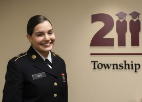 D211 Post: Board Recognizes Student-Soldier