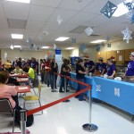 """Each year, the classroom is turned into a """"winter wonderland,"""" by the fashion classes to accommodate the large event."""