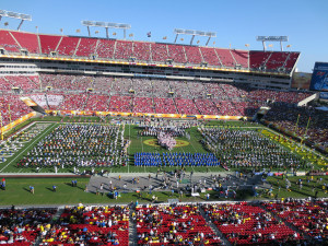 115 Fremd Band students performed with fifteen other high school bands in the Outback Bowl Half-time Show.