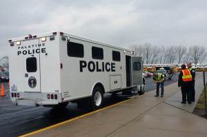 The Palatine Police Department responded to Palatine High School's active shooter drill on April 8. Schaumburg and Hoffman Estates police departments ran a drill at Schaumburg High School the same day.