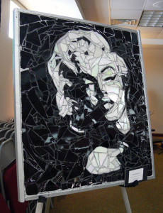 A Marylin Monroe glass mosiac peice by Diana.