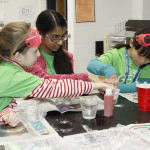 Fifth and sixth grade students participate in hand-on activities during GEMS.