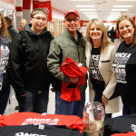 PHS Boosters show support for the Kissane family. (Left to Right) Steff Woell, Liam Kissane, Patrick Kissane, Jerri Helms, Alissa DePue