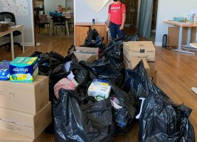 D211 Post: Conant Service Clubs Collect Hygiene Supplies for Women in Need